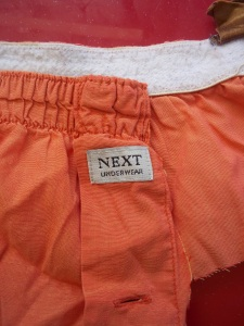 Husband's old boxer shorts.
