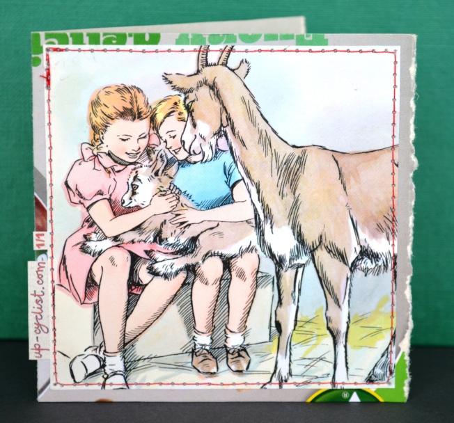 Joy, Bob and Emily The Goat.