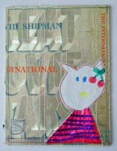 720.  Made from the dust-jacket of a 1972 copy of The Great Movie Stars: The International Years by David Shipman (Angus and Robertson), and a drawing by my daughter.